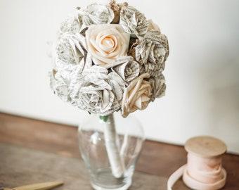 Wizard Inspired Wedding Bouquet | Book Themed Wedding Bouquet | First Anniversary Gift