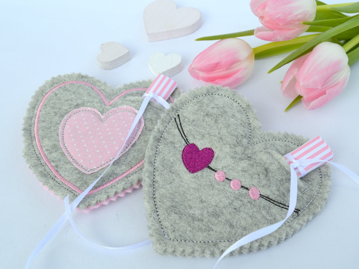 ITH embroidery file hearts 13 x 13 cm Easter