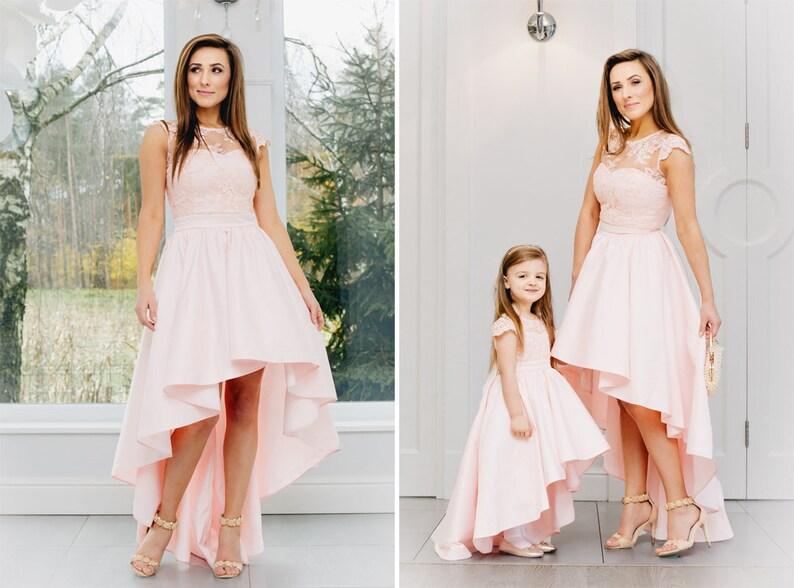 75660dc701 Asymetryczna sukienka sukienka na wesele na miarę granatowa