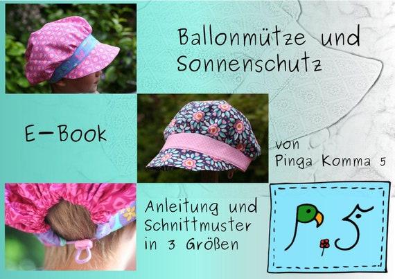 Ähnliche Artikel wie E-Book Ballonmütze und Sonnenschutz auf Etsy