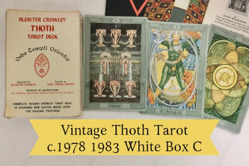 Vintage Thoth Tarot Deck Large Aleister Crowley Tarot Cards c 1978 1983  Belgium Tarot Card Deck Antique Thoth Golden Dawn Collectible Tarot