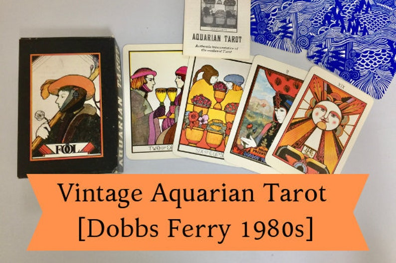 Vintage Aquarian Tarot Cards 2 Part-Box Tarot Card Decks 1980s Morgan Press  Tarot Deck Rare Tarot Card Reading David Palladini Tarot Reading