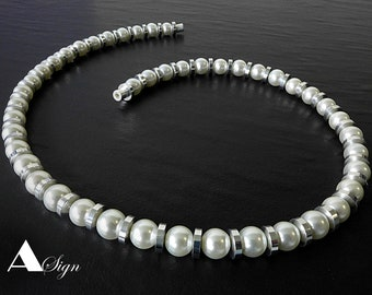 crystal glass black  and aluminum necklace bracelet 925 silver earhooks magnetic clasp A Sign Night /& Day