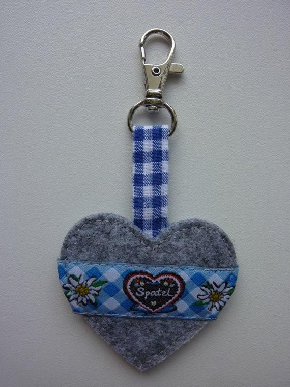 Heart Pendant keychain bag pendant