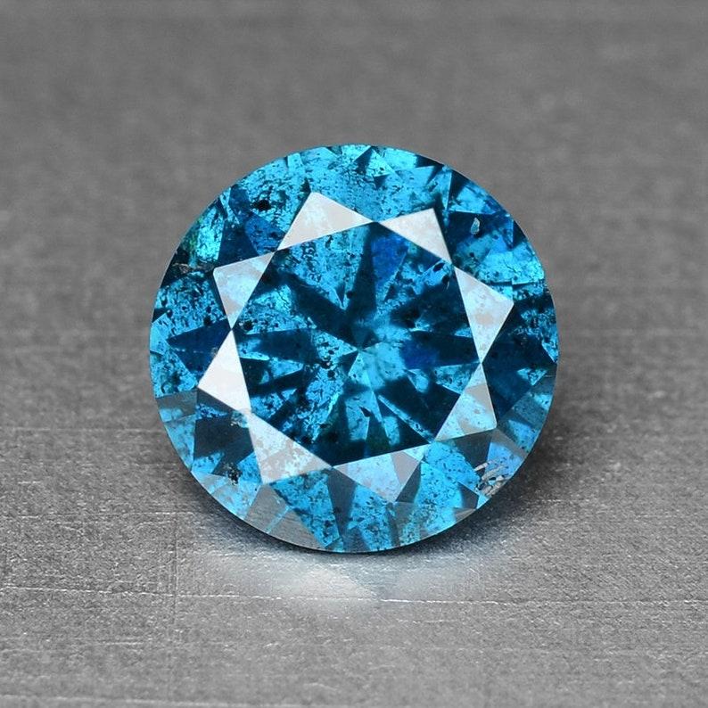 0.29 Cts Natural Diamond Blue Diamond Natural Round Fancy Diamond
