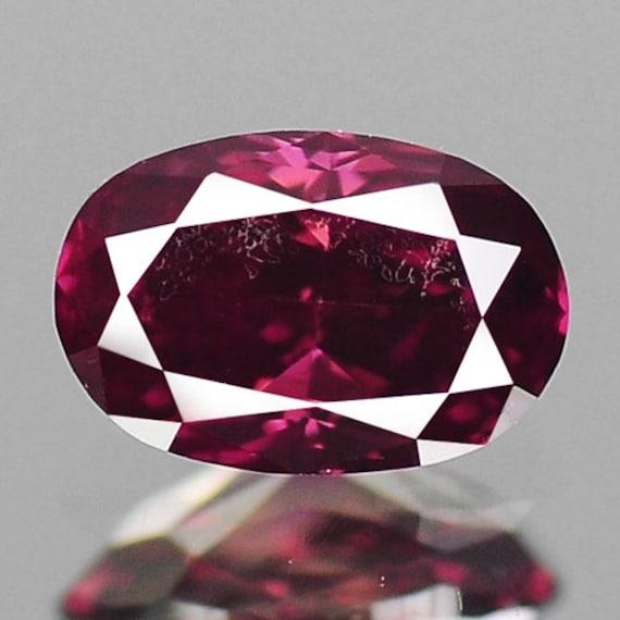 Diamant Rose Violet Ovale 019 Cts Diamant Naturel Lustre F592