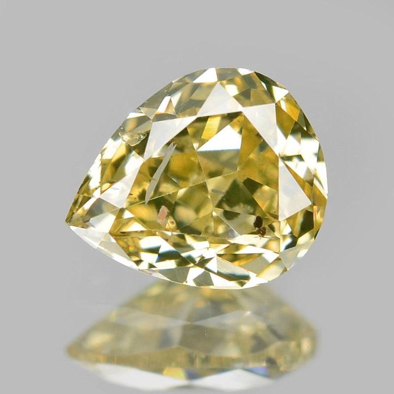 Diamond Greenish Yellow 0.25 Cts Diamond Pear Untreated Loose Diamonds