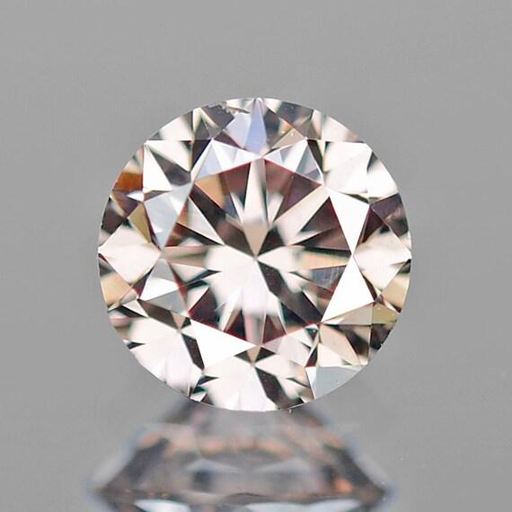 Diamant De Couleur Diamant Fantaisie Brun Rose Rond Haut Lustre 021