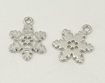 12 piece trailer 22 x 16mm snowflake charms chains Christmas snow