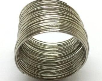 40/St/ück x Silber Stahl Memory-Draht Coil 65/mmx0.6/mm Armband Ohrringe Perlen/ /dojore