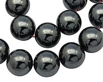 1726 10 Stück Strassperlen Beads Perlen Shamballa schwarz 12 mm
