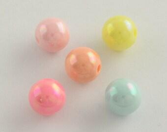 2903 100 Stück Schmetterling Perlen 10x10mm gemischt basteln  Acrylperlen bunt