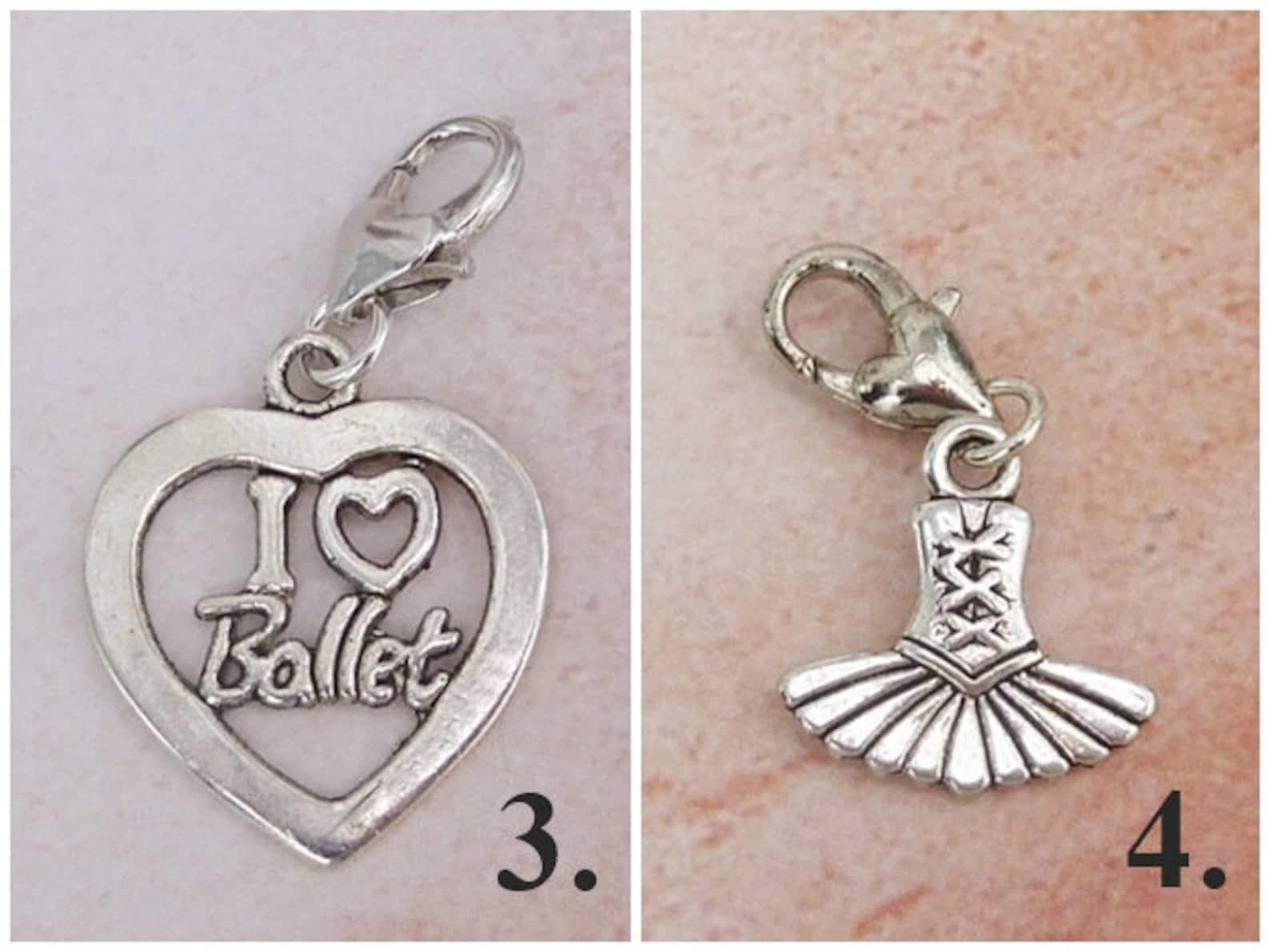 ballerina charm / ballet charm / tutu charm / ballet shoes charm / i love ballet charm / motif selection / dance charm / dance j