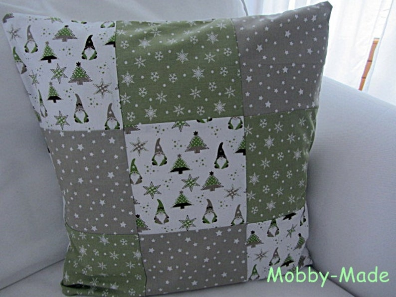 Kissenhülle Patchwork Weihnachtskissen Patchworkkissen image 0