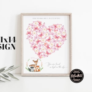 unique baby shower guest sign in guestbook mason jar keepsake signature poster pdf jpg floral baby girl shower guest book poster PRINTABLE
