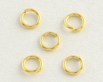 20 Biegeringe 4mmx0,5mm open jump ring Federring Verbindungsring Farbe silber #