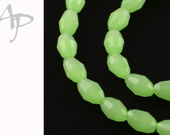 6mm Glasperlen 136St #5199 White AB Color plated Jade Imitation