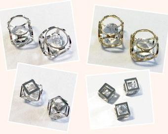 5 Stücke 5mm Rund Facettiert Rosa-Eis Cubic Zirkonia Edelsteine