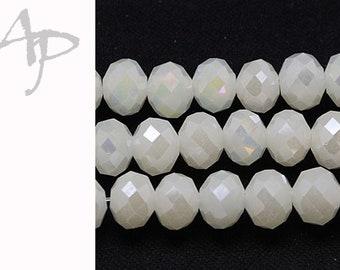 #9845 silver 4mm Glasschliffperlen 150St