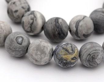 6mm abalorios Matt 140st #5012 Black Frosted