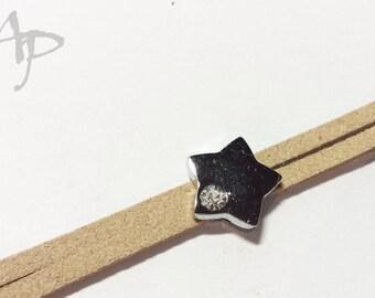 8x1,5mm Modulperle Stern 14mm #1032 2St