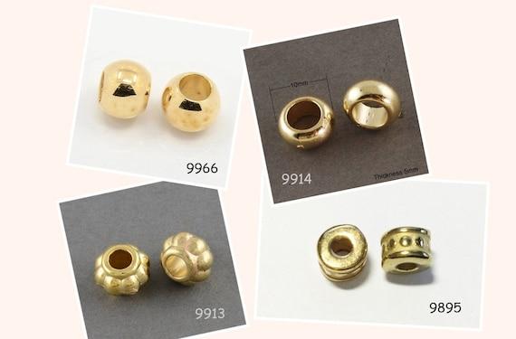 platin Acryl Perlen 6-10mm verschiedene Modelle silber