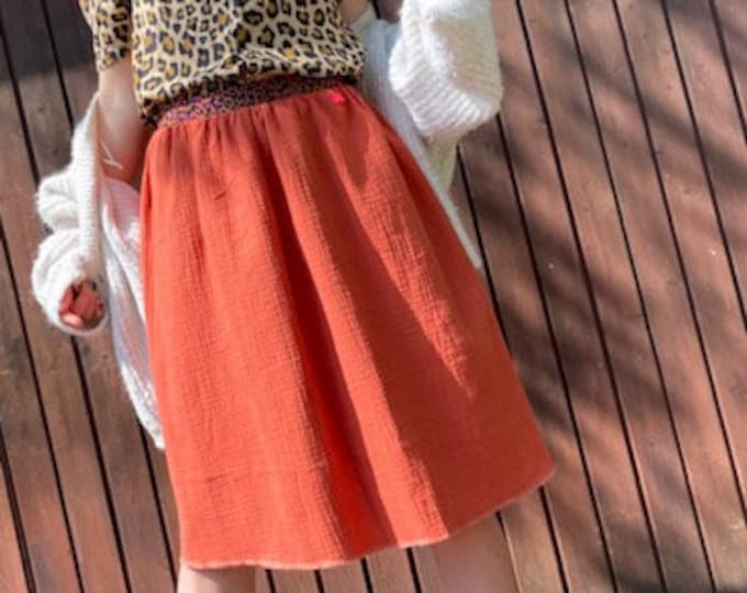 Cotton Mull Skirt Terra Cotta