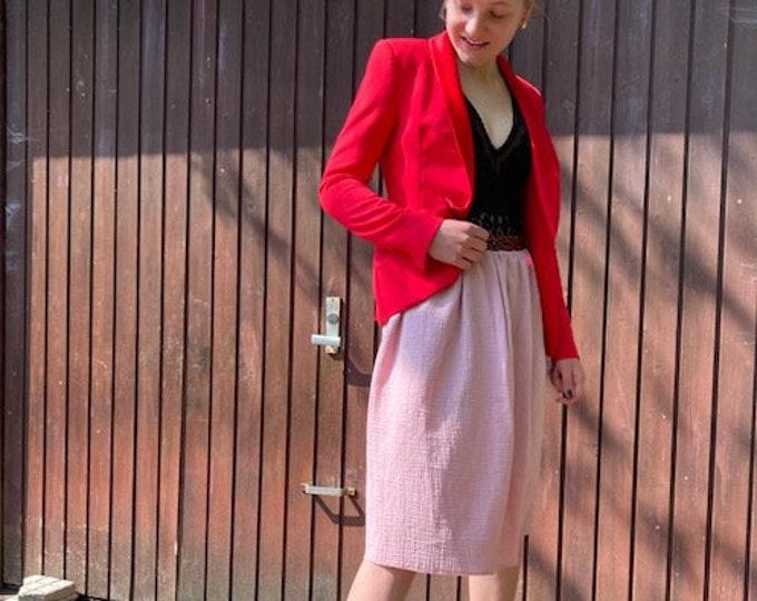 Cotton Mull Skirt Rosé