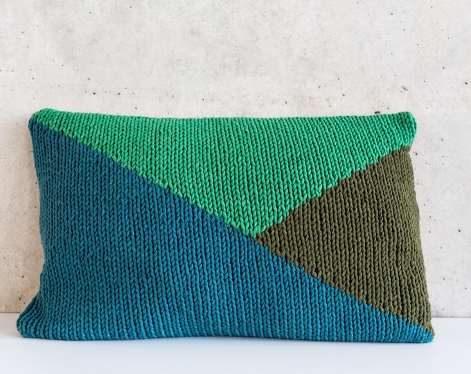 Knitted Pillow flag 60 x 40 cm copper Ocean