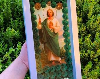 Ceramic Tile Murals Religious Catholic Saint Judas Tadeo 12.75 X 17 inches