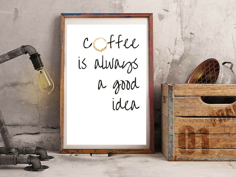 Poster A4 Coffee for kitchen or as a gift image 0