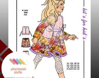 Sewing Pattern, Skirt, Vest, Leggings (Size: 122-128)