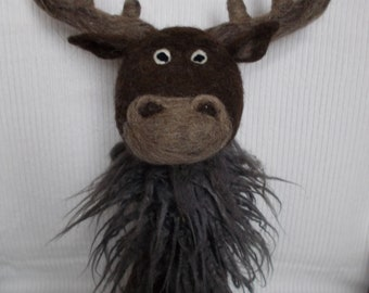 "Door stopper ""elk"" made of felt decoration Christmas"