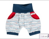 Lilakind Short Kids Pants Baby Shorts Jack Summer Pants Girls Boys Bags Red Blue 50-104 Made in Germany
