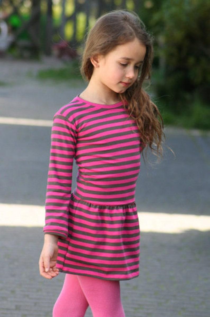 Lilakind Mädchen Kleid Longshirt Langarm mit ...