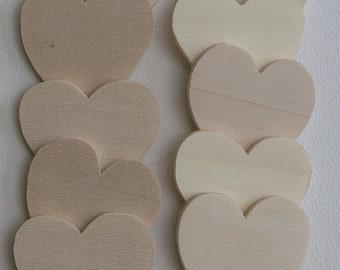 Weddingtree Wedding Tree Hearts made of wood as wedding decoration