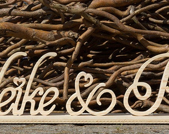 Wood-Writing XXL free standing as Hochzeitsdeko, for the candybar or as a decoration for the photo shoot