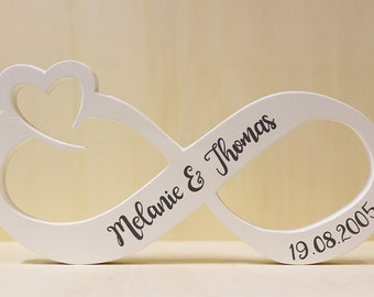 Infinity sign as a table decoration for the wedding, as a gift for Valentine's Day or for the wedding anniversary