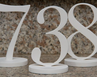 Table number wedding from wood freestanding for the wedding party