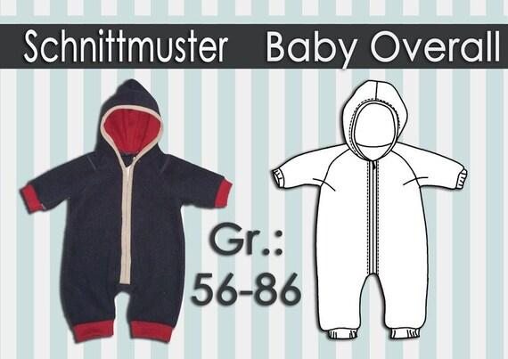 Schnittmuster Fleece Overall Gr.:50-86   Etsy