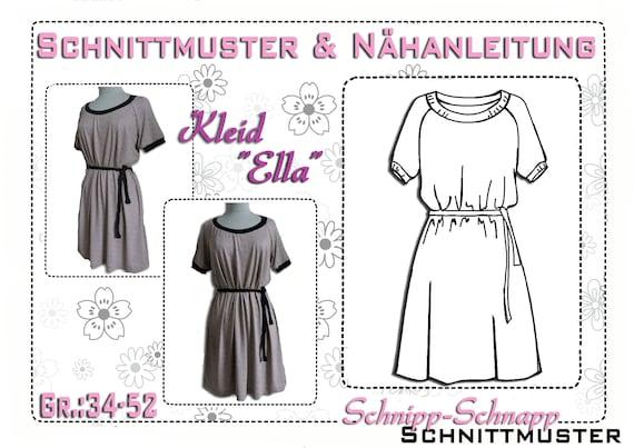 Ähnliche Artikel wie Schnittmuster/Ebook Kleid \