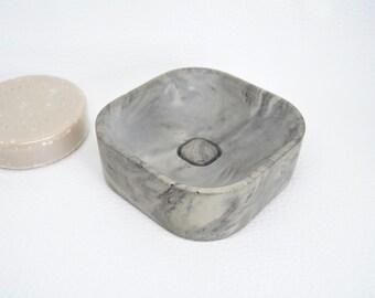 Concrete soap dish made of fine concrete-soap tray-oval or | Etsy