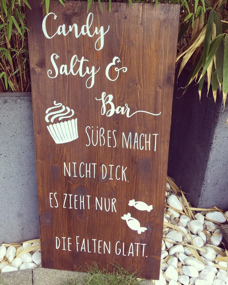 Candy Bar Schild Hochzeit