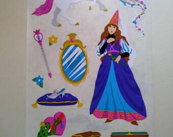 Unicorn 2 Strips Mrs Princess Grossman/'s Giant Stickers Fairy Frog
