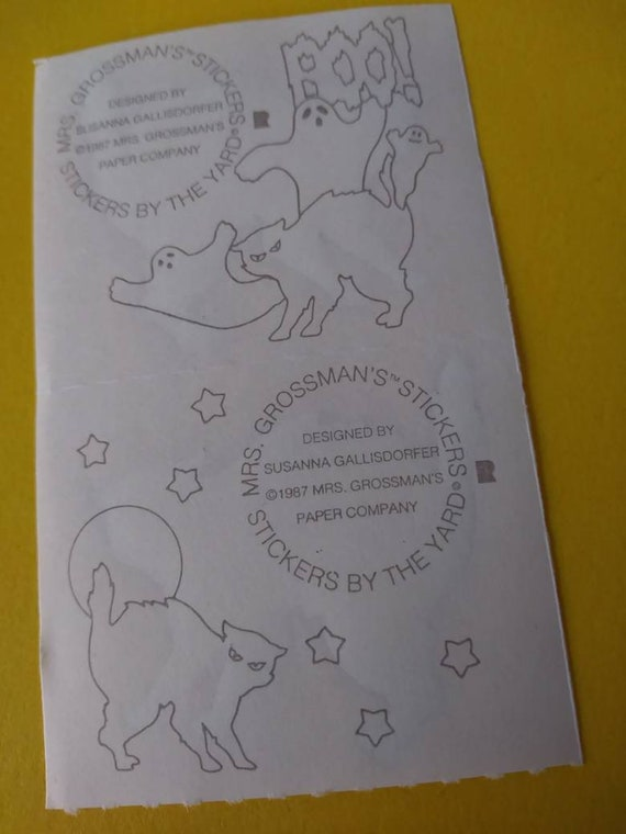 Mrs Grossman SCARY BLACK CAT Stickers SCARY HALLOWEEN CAT 1//2 SHEET
