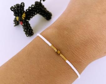 Beaded Bracelet Bracelet Star White Gold Gold Gold Fine Filigree