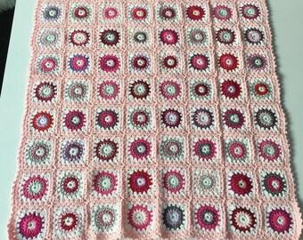 Baby blanket pink (123)