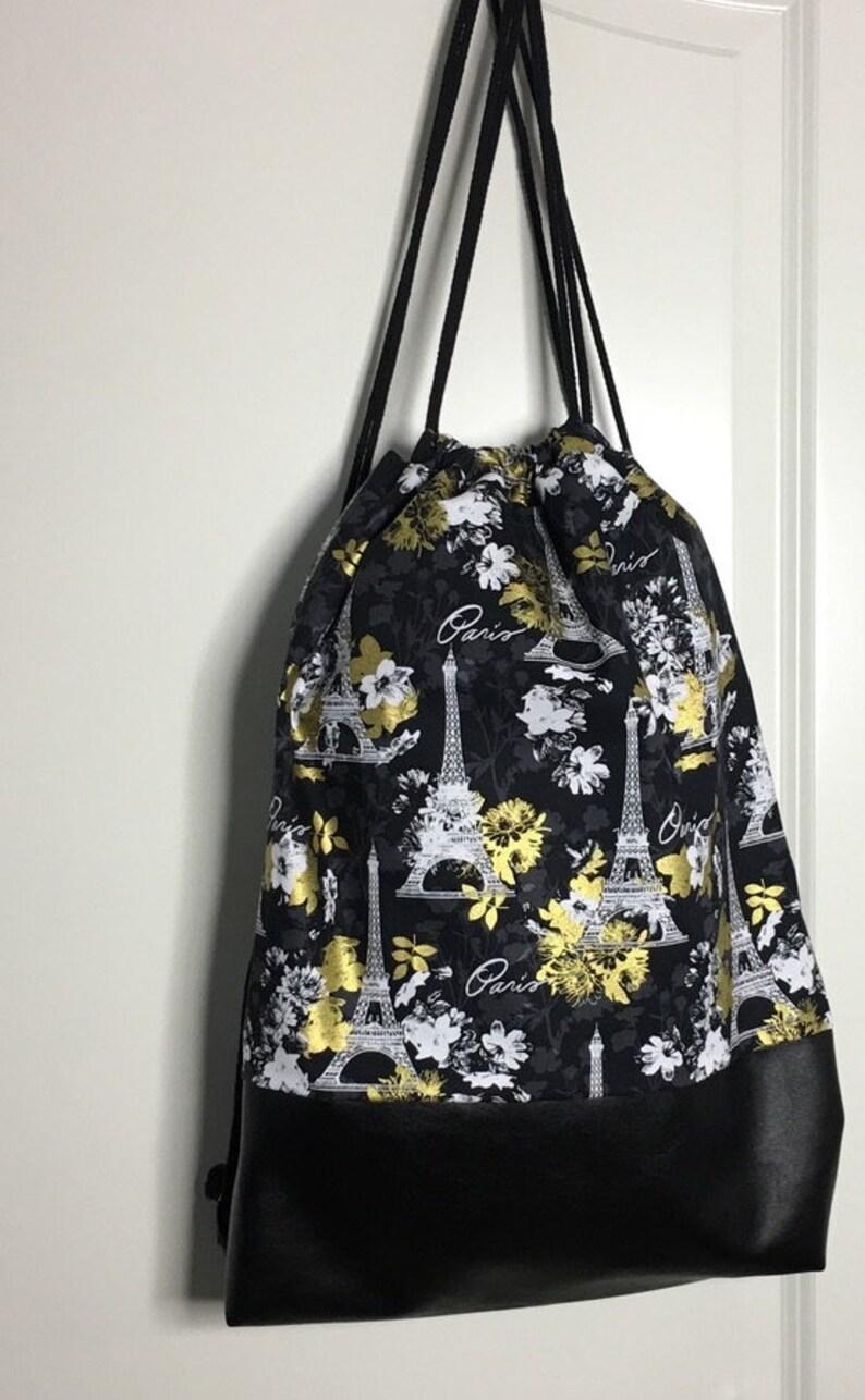 Gym bag backpack black Paris 100 image 0