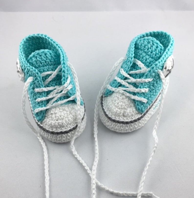 Baby turnroat shoes 10 cm light turquoise grey 127 image 0