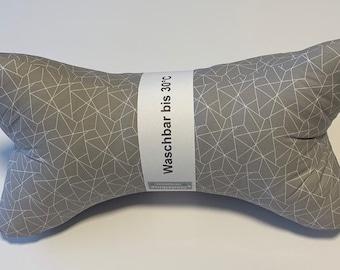 Reading Bone/Neck Pillow/Neck Support Grey geormetric Pattern (125/118)